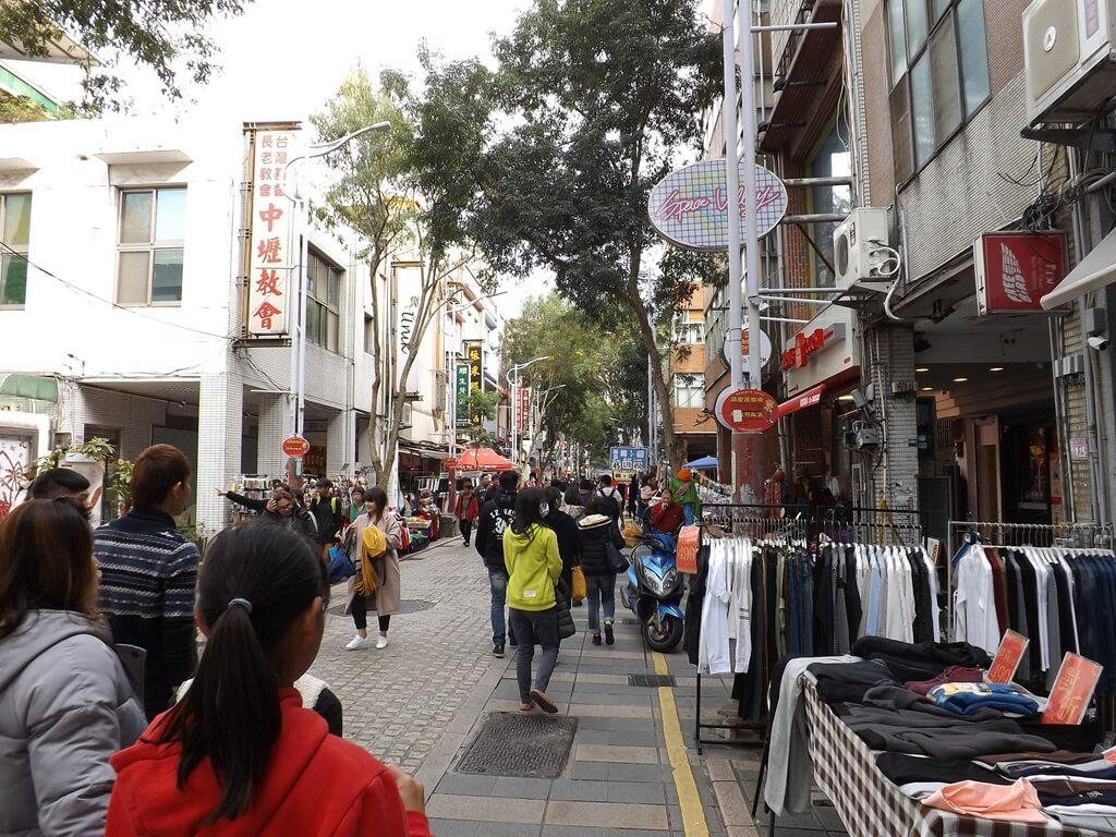 中壢中平路商圈的圖片:人潮滿滿的商圈徒步區