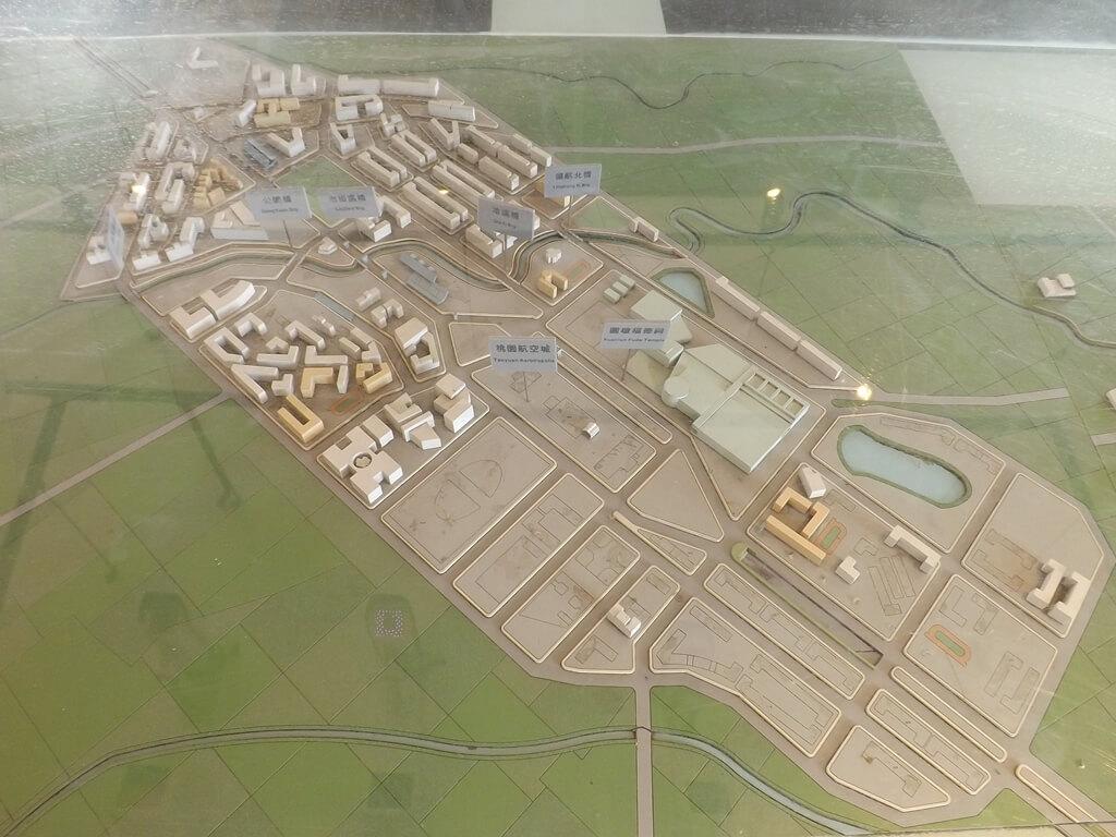 中壢老街溪河川教育中心的圖片:流經工業區模型