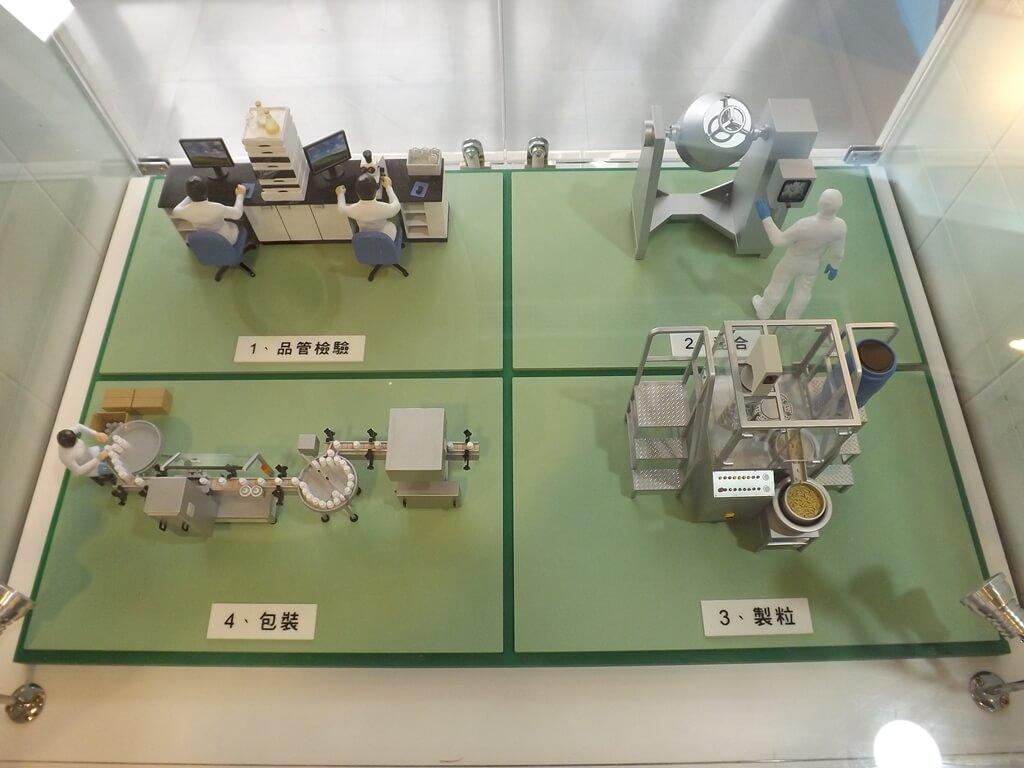 葡萄王健康活力能量館(葡萄王觀光工廠)的圖片:品管與包裝的製程模型