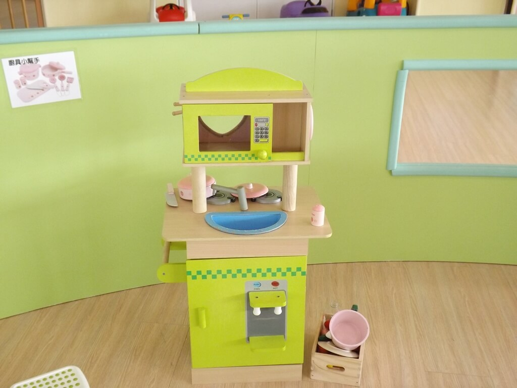 中壢親子館的圖片:兒童煮菜玩具