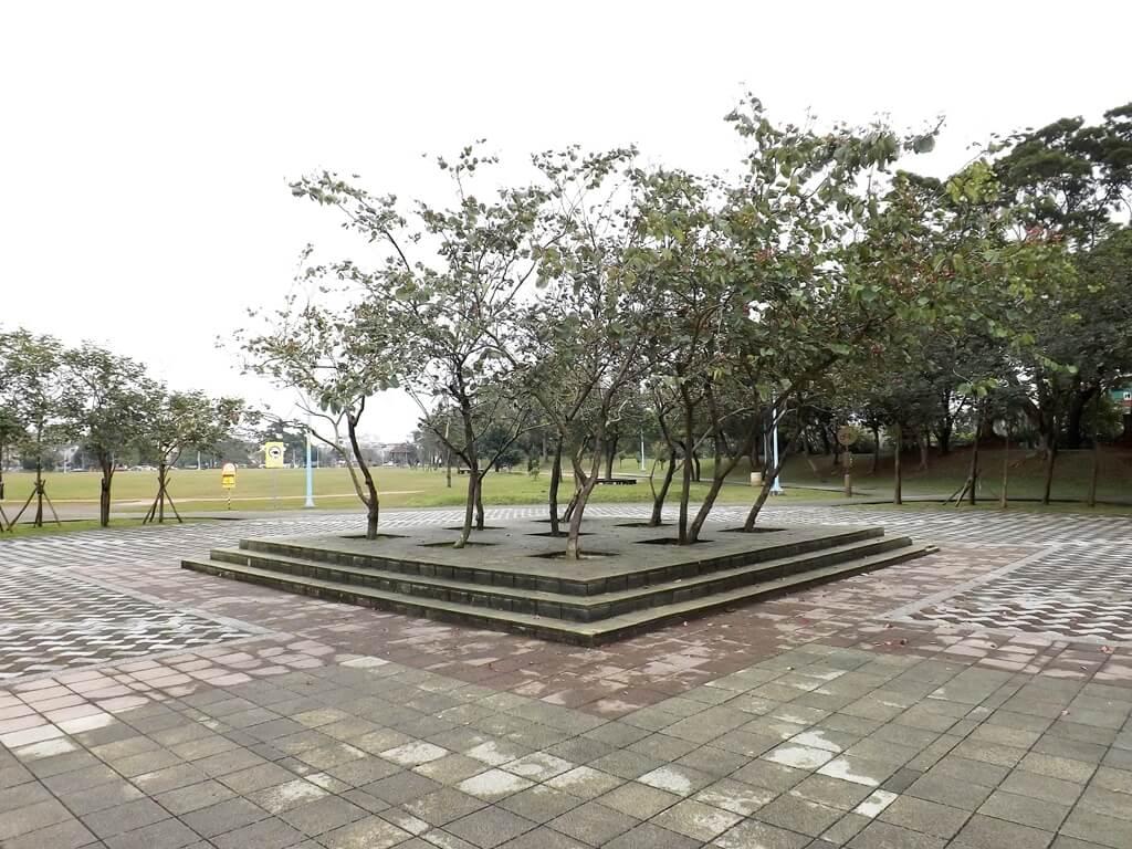 龍岡萬坪公園的圖片:石碑後方的林木