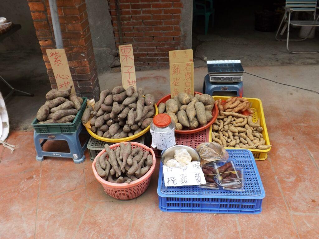三坑老街的圖片:老街內販售的地瓜