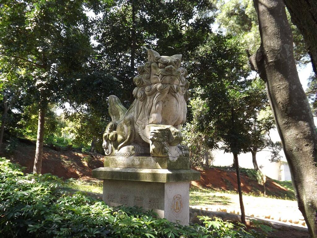 楊梅貴山客家文化公園的圖片:貴山步道旁的石獅子
