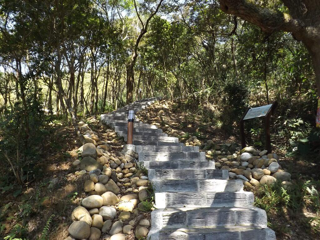楊梅秀才登山步道的圖片:沿著山坡打造的水泥步道