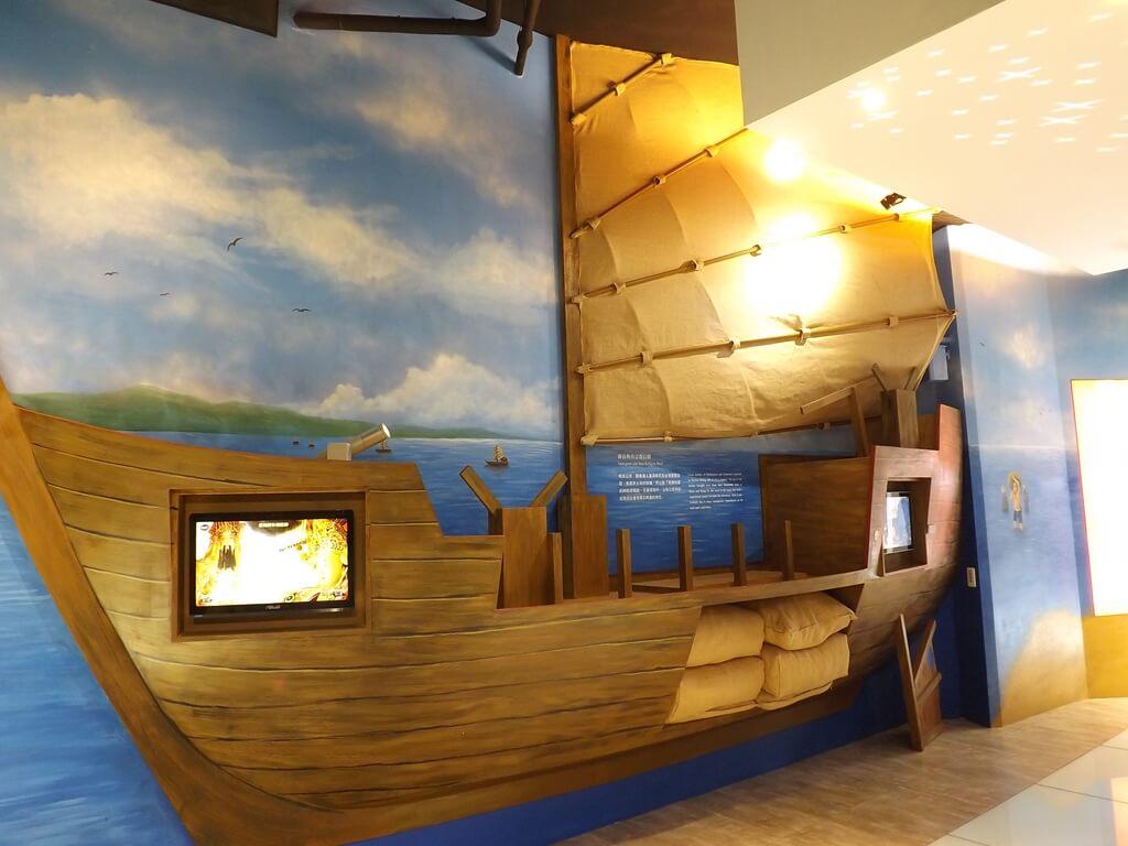 桃園市土地公文化館的圖片:代表移民與宗教信仰的帆船