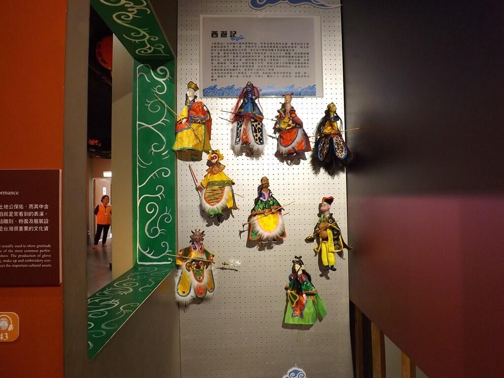 桃園市土地公文化館的圖片:布袋戲玩偶與場景