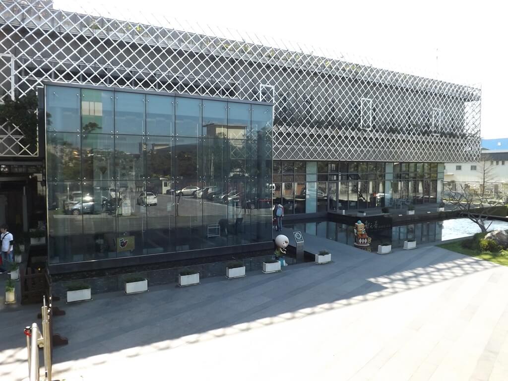 郭元益糕餅博物館桃園楊梅館的圖片:造型新穎亮麗的綠標展覽館