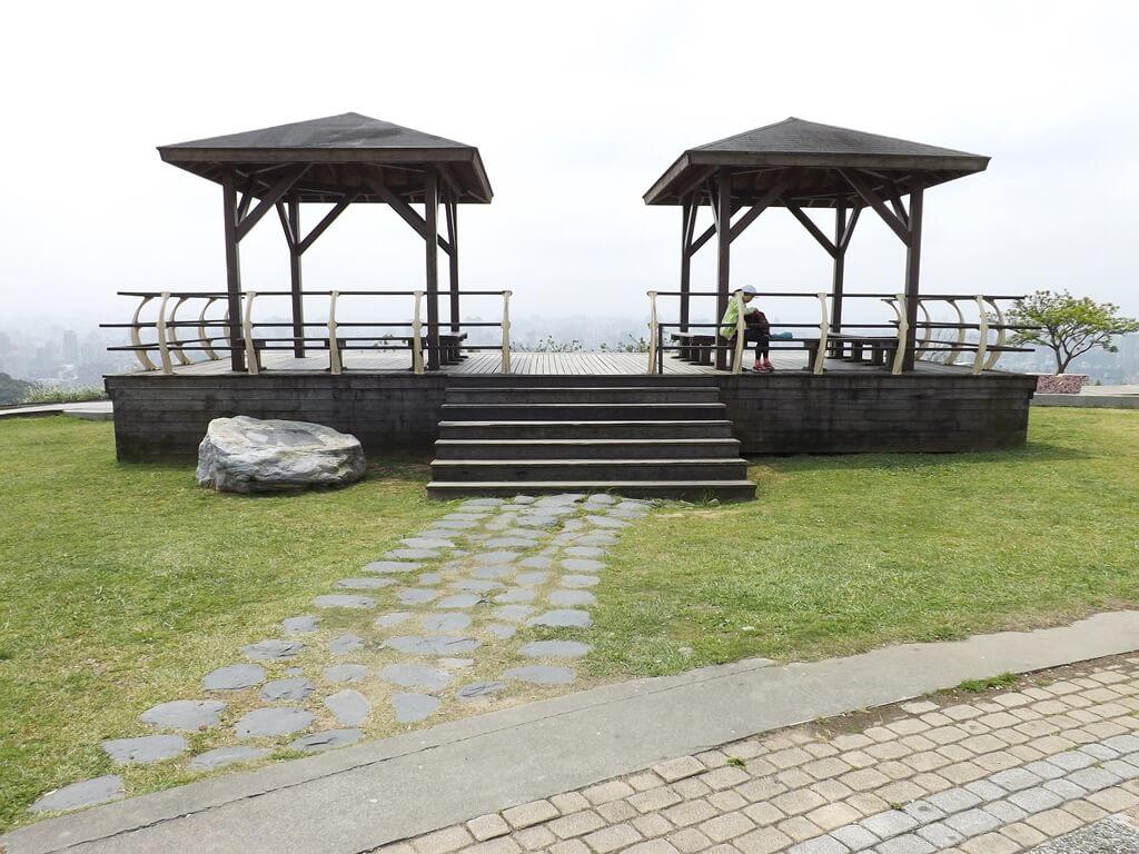 虎頭山環保公園的圖片:從公園往桃園市看去的觀景平台
