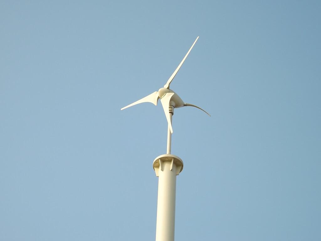 許厝港濕地的圖片:小的風車標誌很可愛
