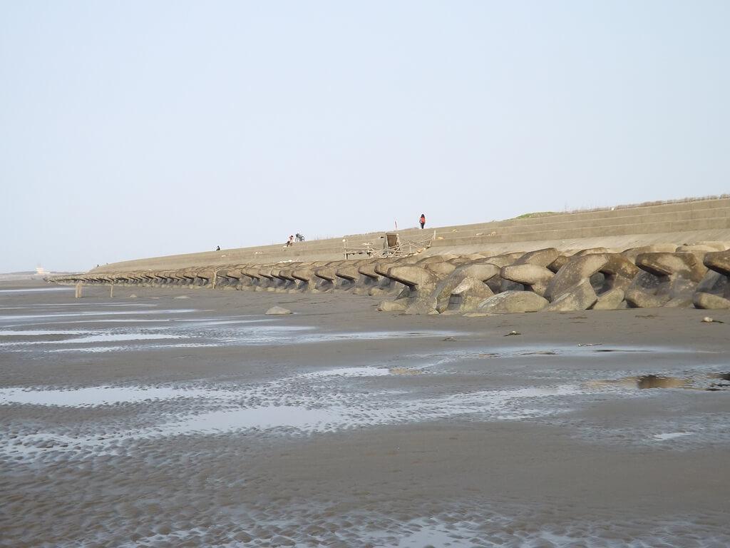 許厝港濕地的圖片:沙灘及消波塊