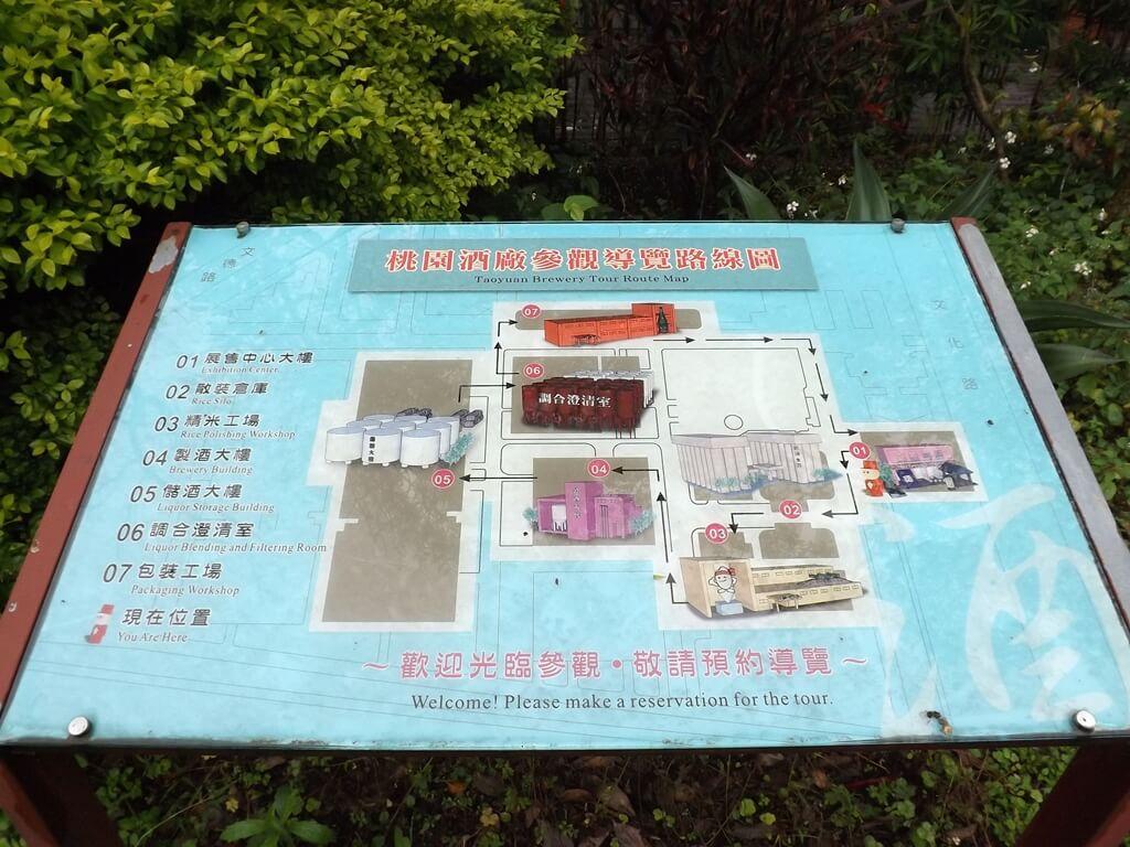 臺灣菸酒股份有限公司桃園酒廠的圖片:參觀導覽路線圖