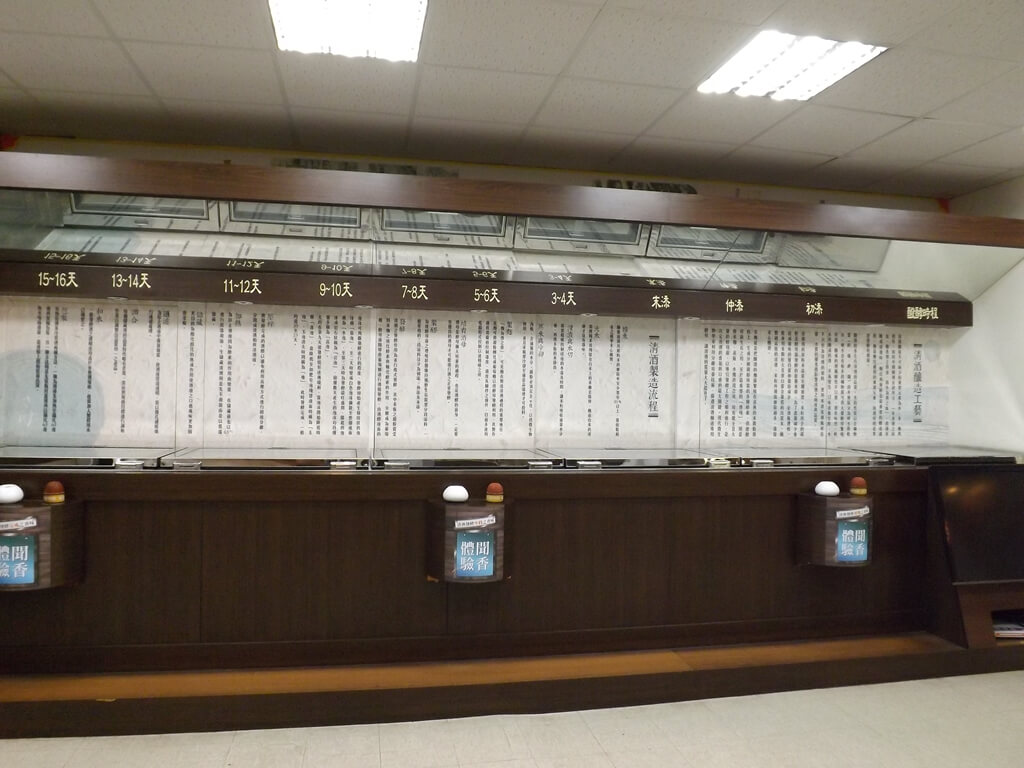 臺灣菸酒股份有限公司桃園酒廠的圖片:玉泉清酒釀造天數解說看板