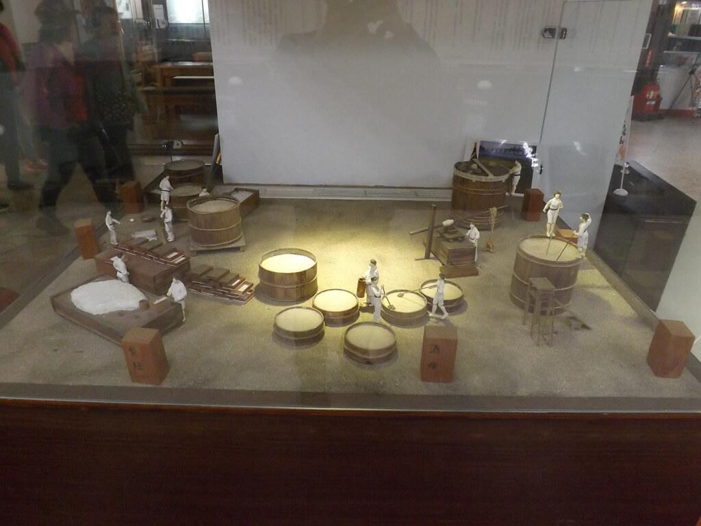 臺灣菸酒股份有限公司桃園酒廠的圖片:清酒釀造示意模型