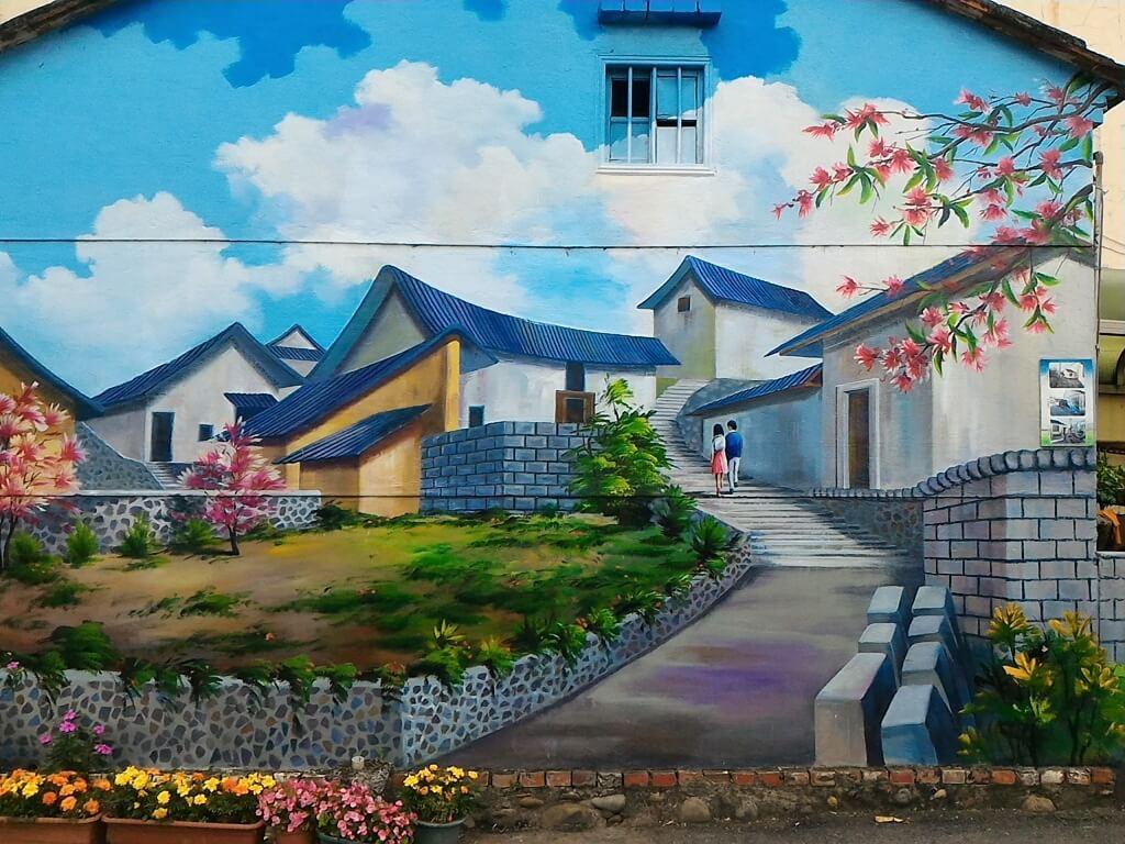 坑口彩繪村的圖片:美麗的社區彩繪