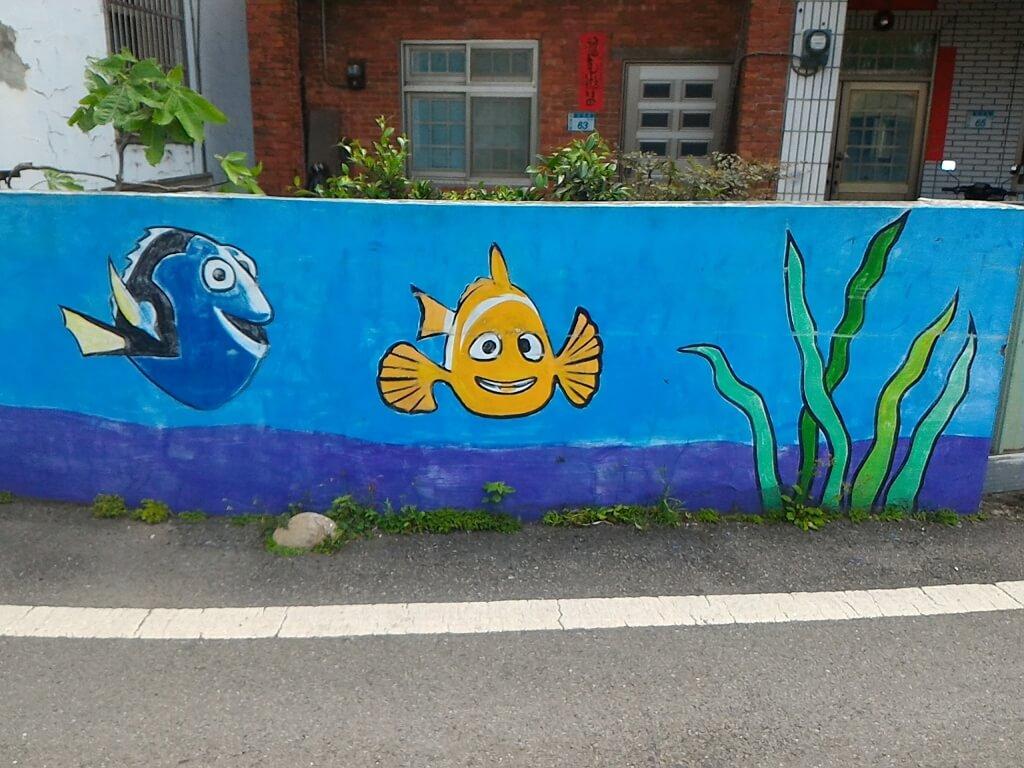 坑口彩繪村的圖片:熱帶魚彩繪