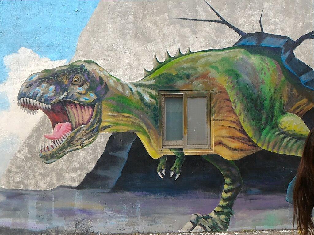 坑口彩繪村的圖片:大恐龍彩繪