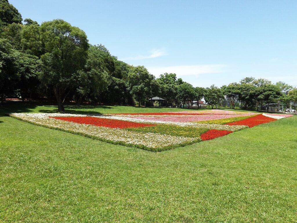 大溪河濱公園的圖片:彩色的草花地毯