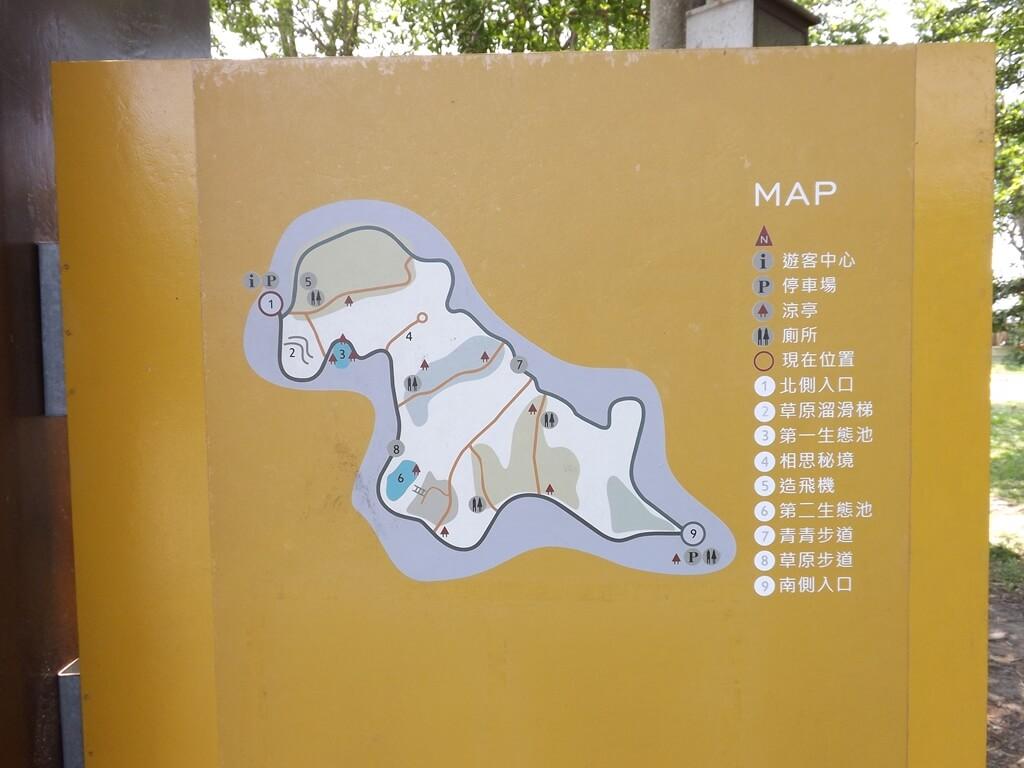 新竹青青草原的圖片:園區分佈圖
