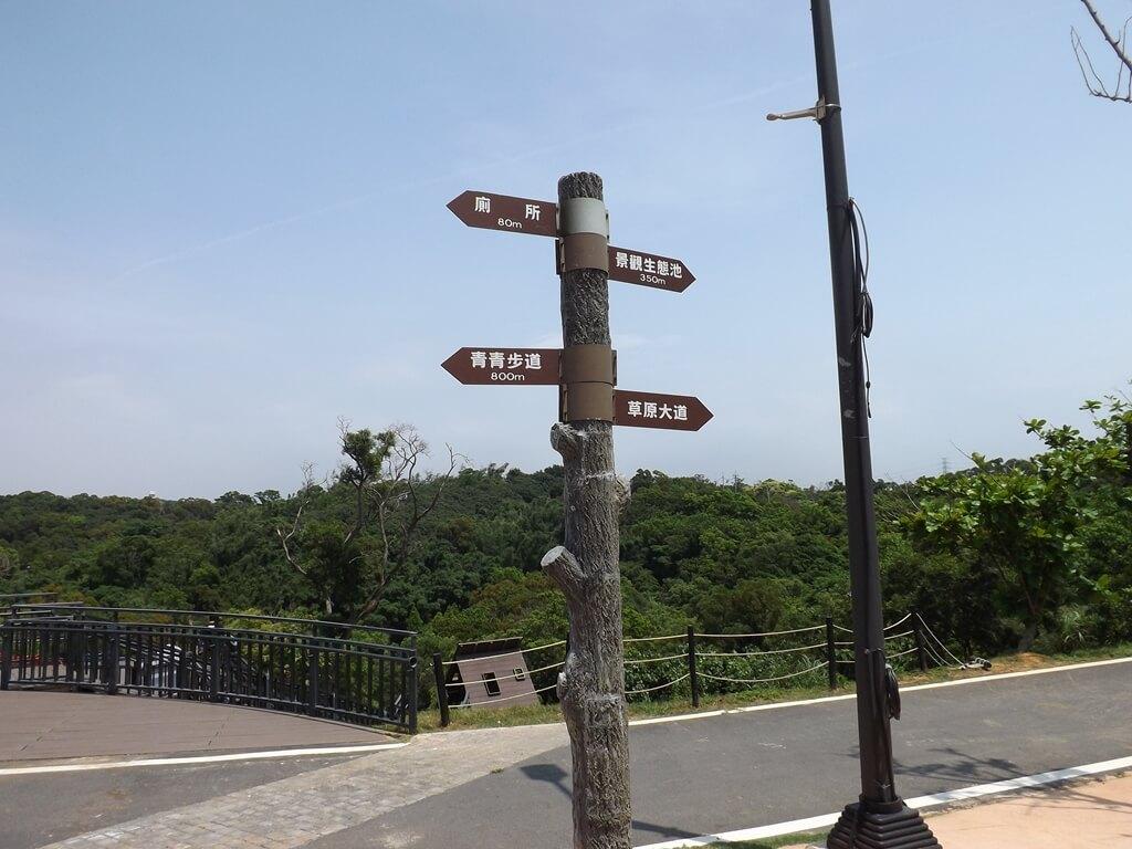 新竹青青草原的圖片:草原路標