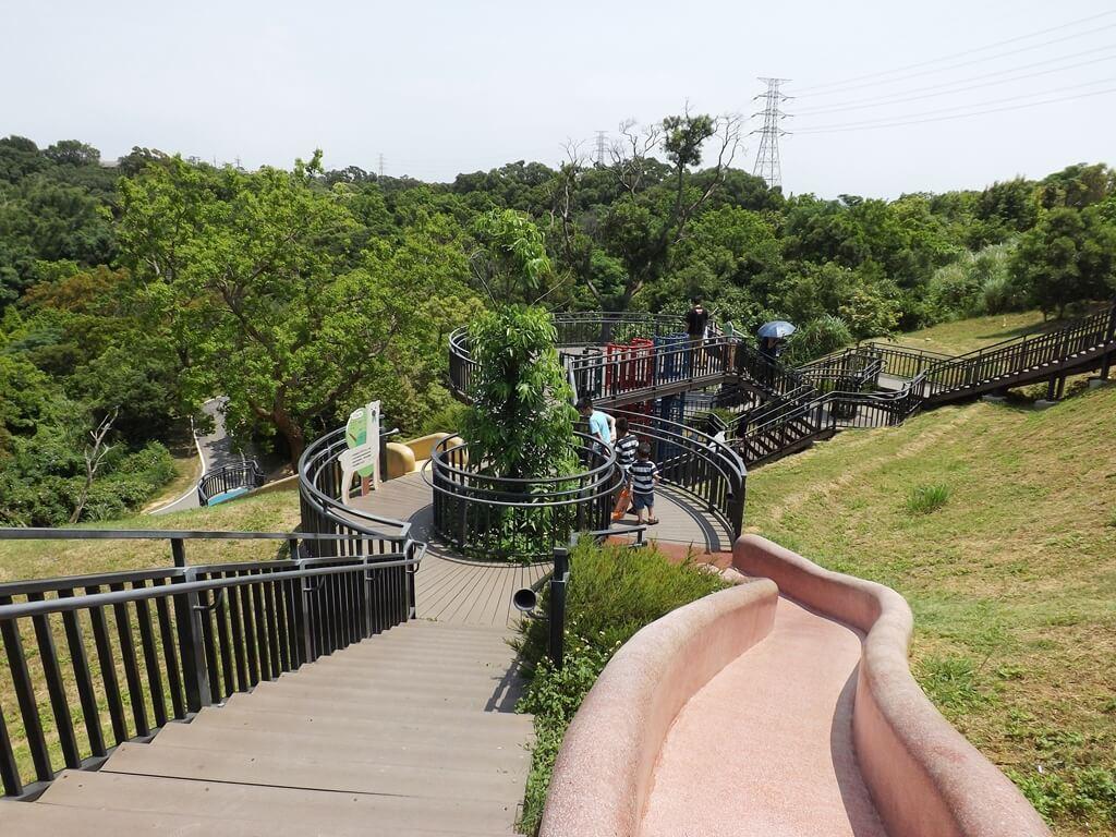 新竹青青草原的圖片:最上端的紅色磨石子溜滑梯