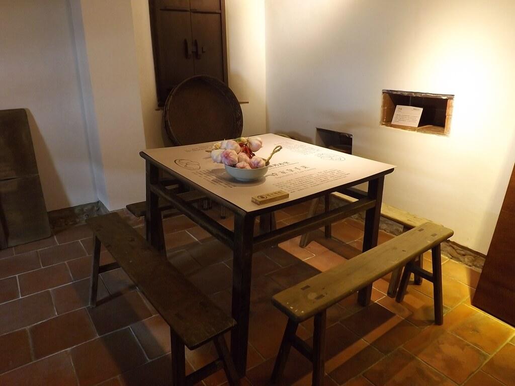李騰芳古宅的圖片:廚房的餐桌擺設