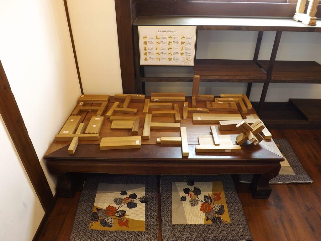 大溪木藝生態博物館的圖片:傳統榫接技法實品展示