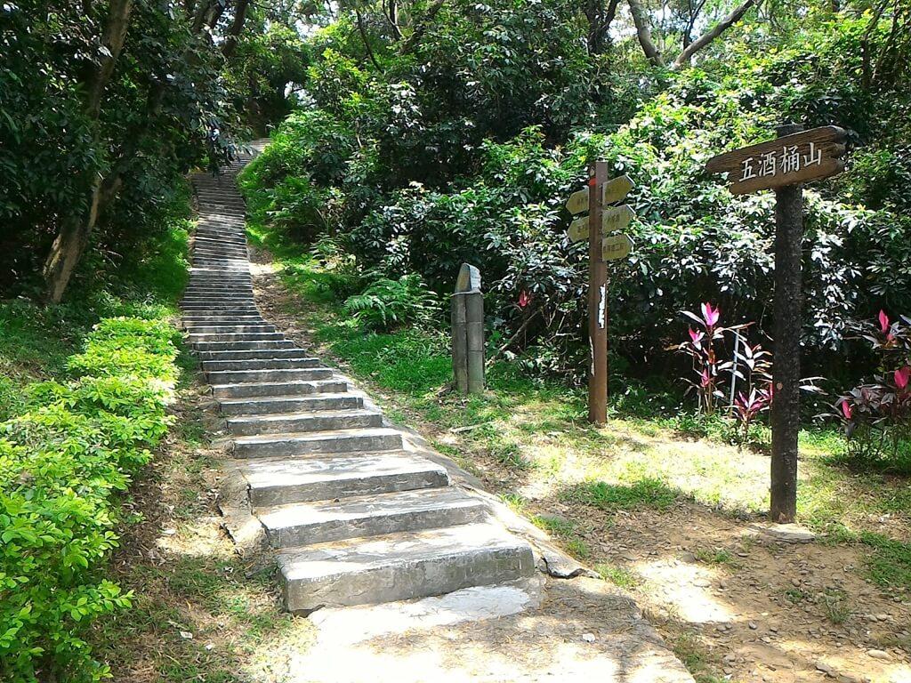 五酒桶山步道的圖片:水泥階梯登山步道起點