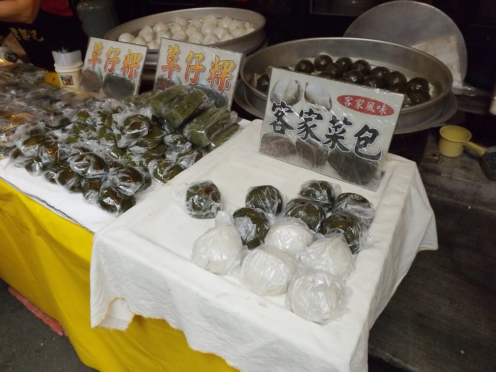 內灣老街的圖片:草仔粿與客家菜包