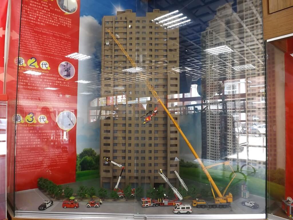 新竹市消防博物館的圖片:高樓火災救援展示