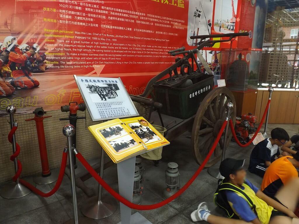 新竹市消防博物館的圖片:日據時代的消防車展示