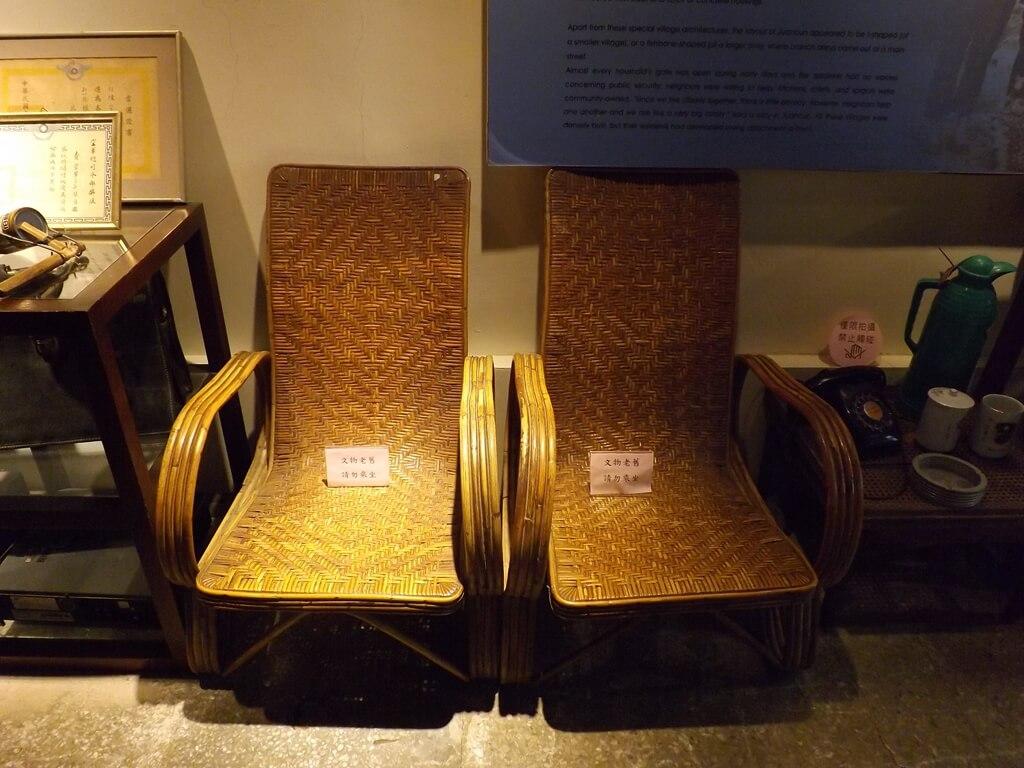 新竹市眷村博物館的圖片:舊時代眷村常見的藤椅