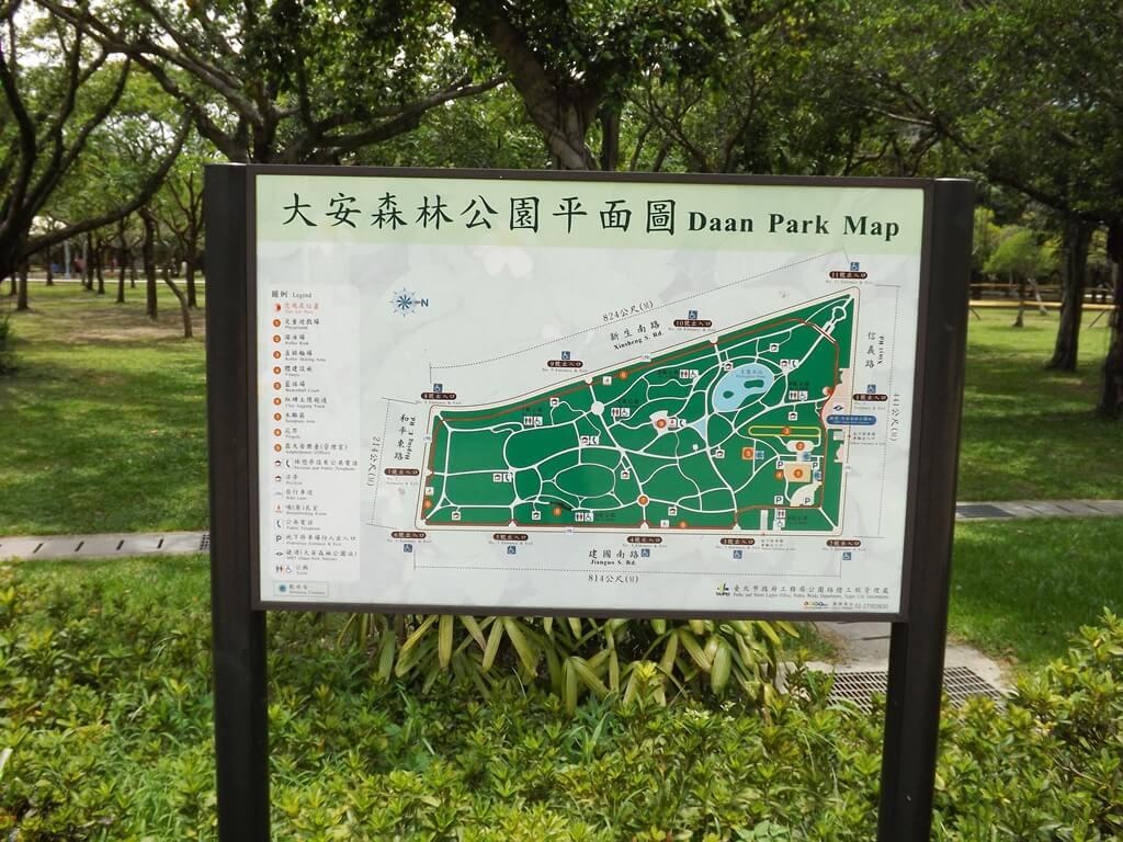 大安森林公園的圖片:公園平面配置圖
