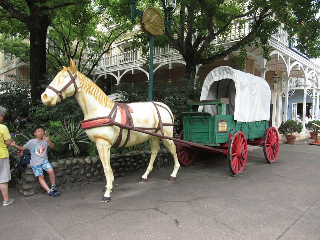 六福村主題遊樂園的圖片:馬車拍照場景