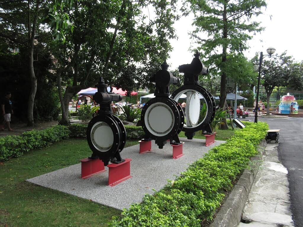 臺北自來水園區(自來水博物館)的圖片:三個蝶閥