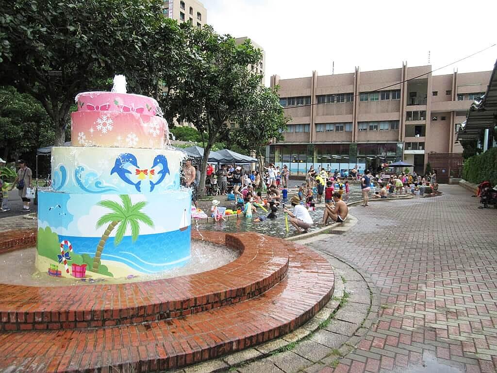 臺北自來水園區(自來水博物館)的圖片:戲水區彩繪噴水