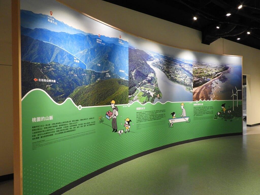 桃園市消防局訓練中心暨防災教育館的圖片:台灣的山脈介紹牆