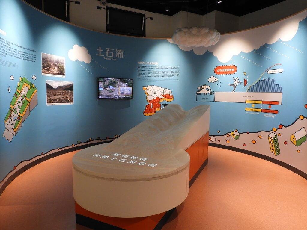 桃園市消防局訓練中心暨防災教育館的圖片:土石流的動態模型