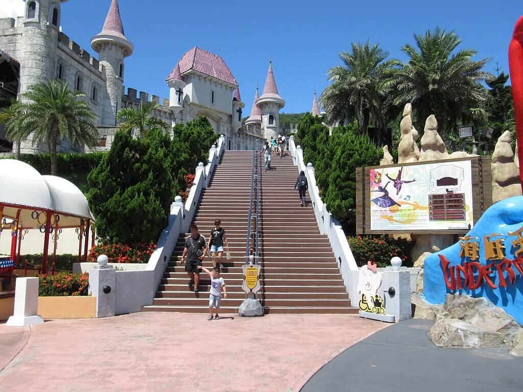 花蓮遠雄海洋公園的圖片:通往水晶城堡的階梯