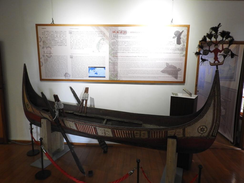 北投文物館的圖片:原住民的木造船
