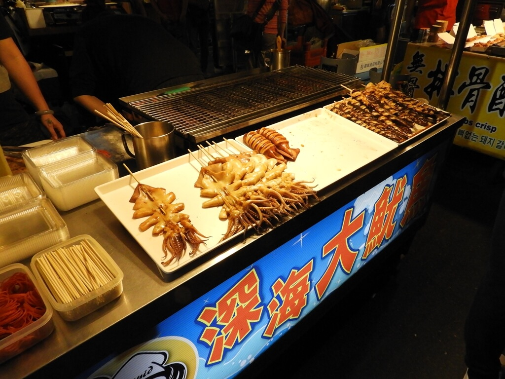 饒河街觀光夜市的圖片:深海大魷魚(烤魷魚)
