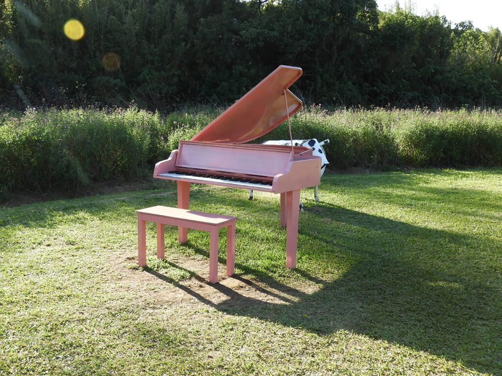 青林農場的圖片:草地上的粉紅色鋼琴