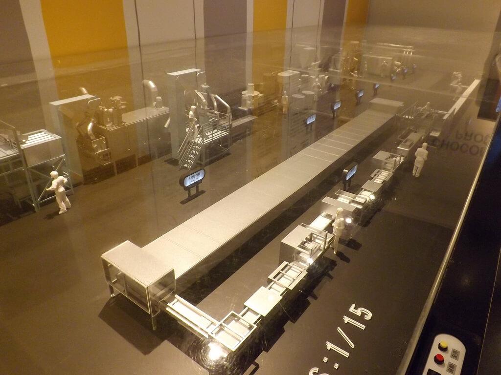 宏亞巧克力共和國的圖片:巧克力生產線模型