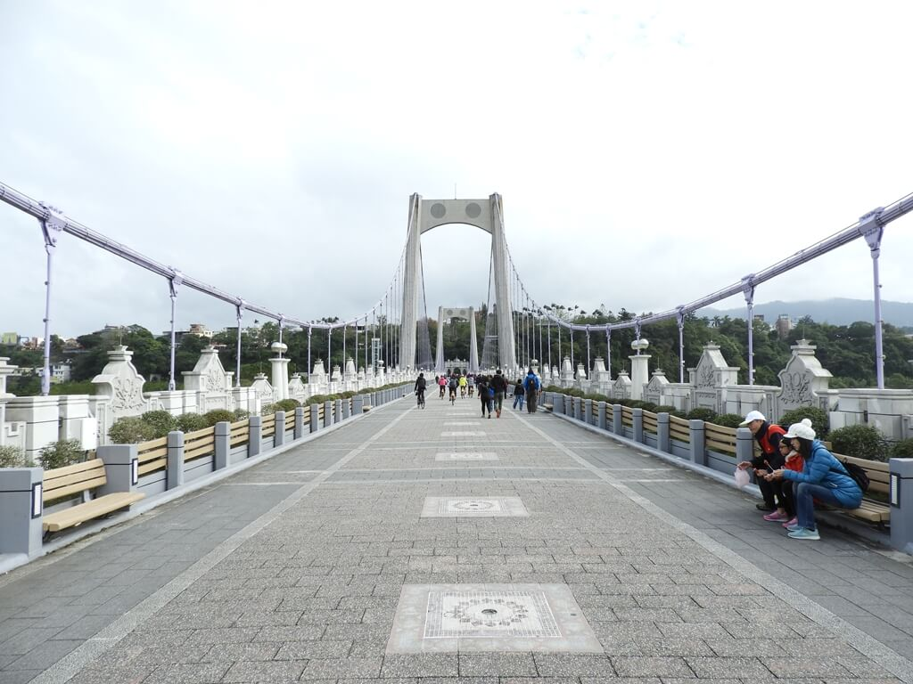 大溪橋的圖片:大溪橋的橋面及兩側的鋼索(123657678)