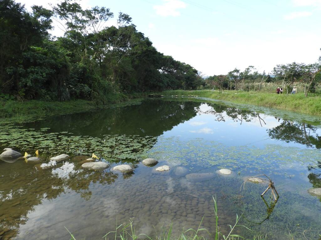 大溪山豬湖親水生態園區的圖片:山影池及藍天倒影