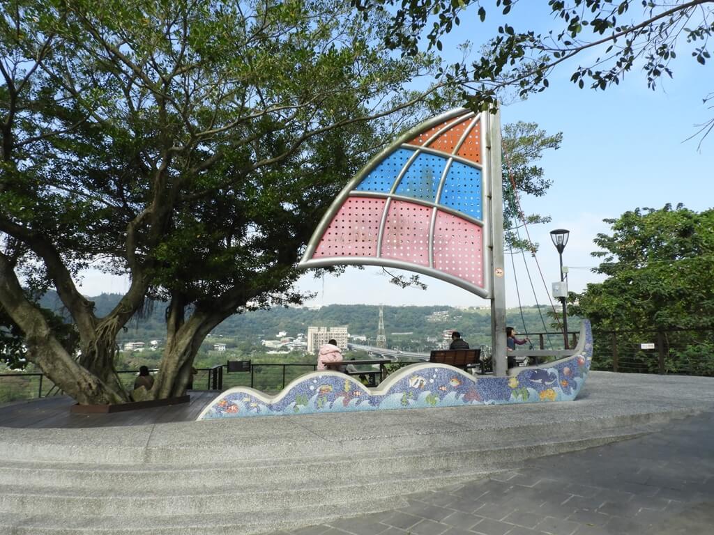大溪中正公園的圖片:帆船廣場的帆船造景