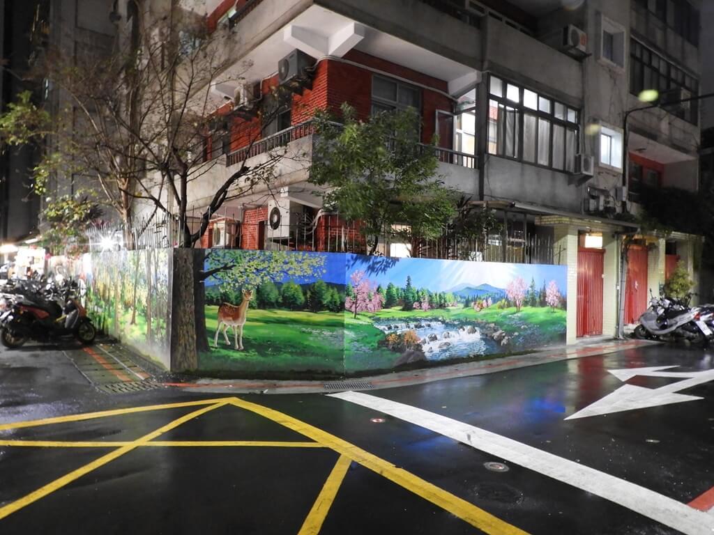 師大夜市的圖片:轉角圍牆上的塗鴉