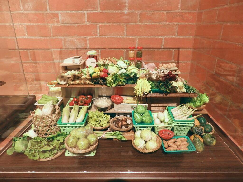 湖口好客文創園區的圖片:青菜攤販的袖珍模型