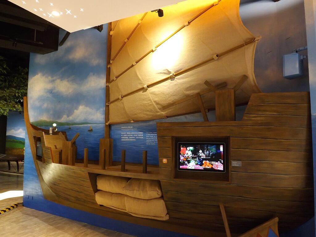 桃園市土地公文化館的圖片:大船上也有影片可以欣賞