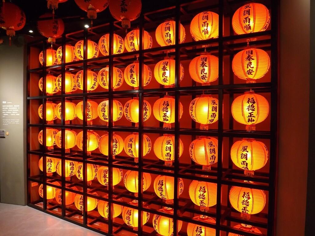 桃園市土地公文化館的圖片:國泰民安燈籠牆
