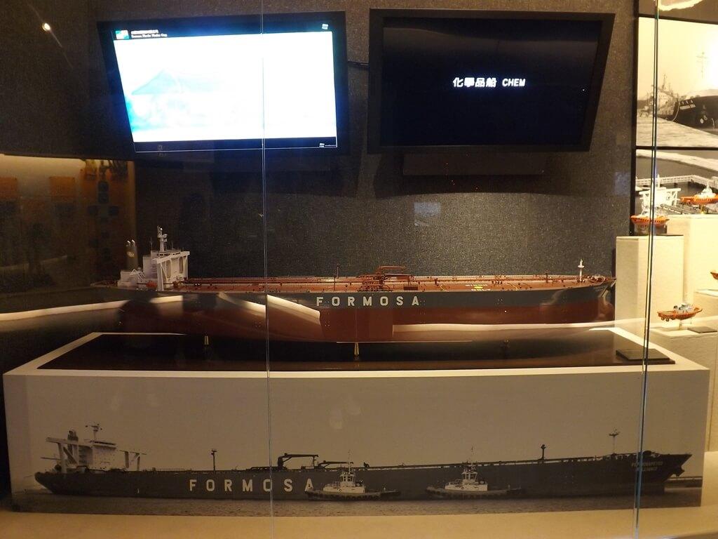 台塑企業文物館的圖片:台塑集團的化學品船 CHEM 模型與介紹